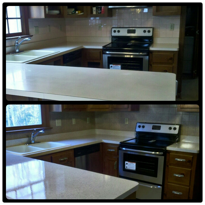 Kitchen Counter Resurface And Tile Back Splash Resurface ...